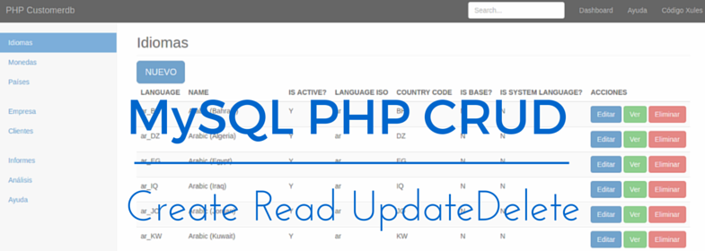 Proyecto PHP CRUD con MySQL – PHP CRUD (1)